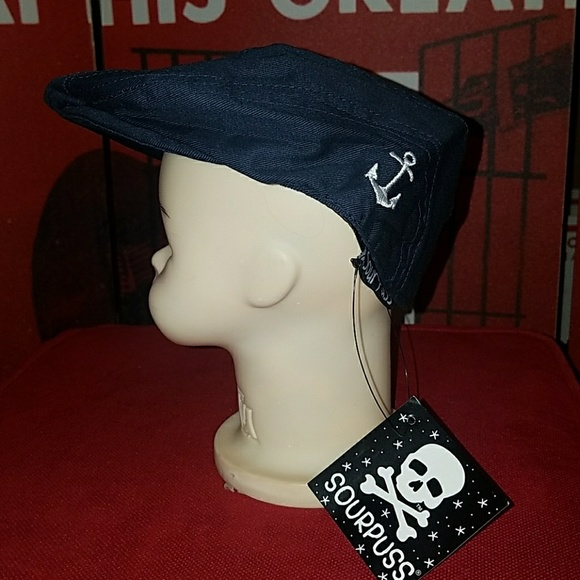 Sourpuss Flat Cap Infant Golf Hat Anchor Sailor aa30dcfd6ec